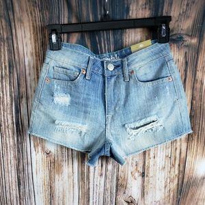 Aero High Rise Shorty Denim Shorts Jeans